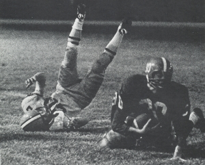 HAL BISSEL RUNNING OVER A MOUNTAIN BROOK SPARTAN.(Click to enlarge.)