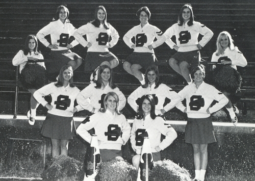 THE 1969 SHADES VALLEY MOUNTIE CHEERLEADERS. (Click to enlarge.)